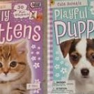 Cute Animals Cuddly Kittens & Playful Puppies (With 38 Stickers)