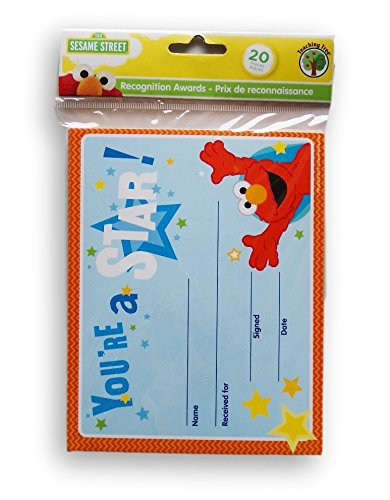 """Sesame Street Elmo Recognition Awards Certificates """"You're a Star"""" 20 count"""