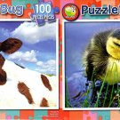 Young Calf  - Newborn Duckling - 100 Piece Jigsaw Puzzle SET of 2