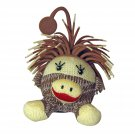 Yo-Yo Zibbies for Pets Chad Plush Toy with Crazy Hair Squeaker and Launcher, 4.3-Inch