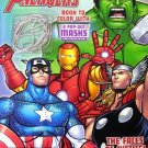 The Mighty Avengers Book to Color with 6 Pop-out Masks