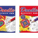Set of 2 Doodle Activity Pads for Adults. 2 PACK
