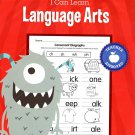 I Can Learn Language Arts - Educational Workbook - Teacher Approved - Grades 1
