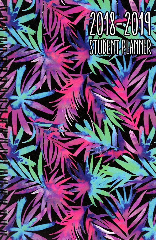 2018-2019 Student Planner Calendar (Flowers) - (Spiral Bound) v1