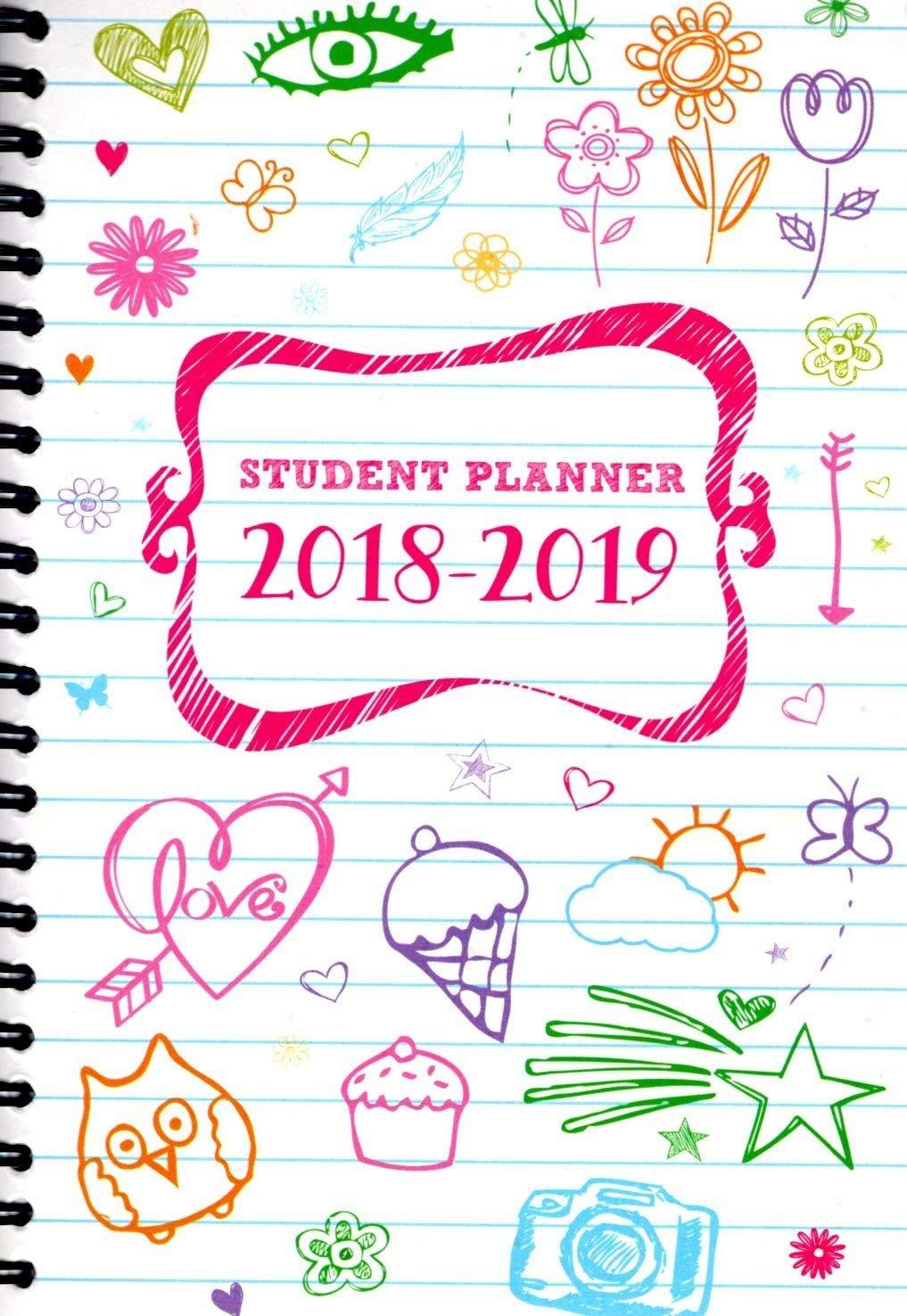 2018-2019 Student Planner Calendar -  (Spiral Bound) v7