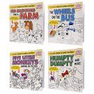 Favorite Nursery Rhymes Color, Read, and Sing Along Books with Stickers 4 Books