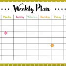Magnetic Dry Erase Calendar - (Full Sheet Magnetic) - v9