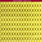 Magnetic Locker Wallpaper - Dry Erasable Holographic Designs - Pack of 4 Sheets - Gold Color - v2