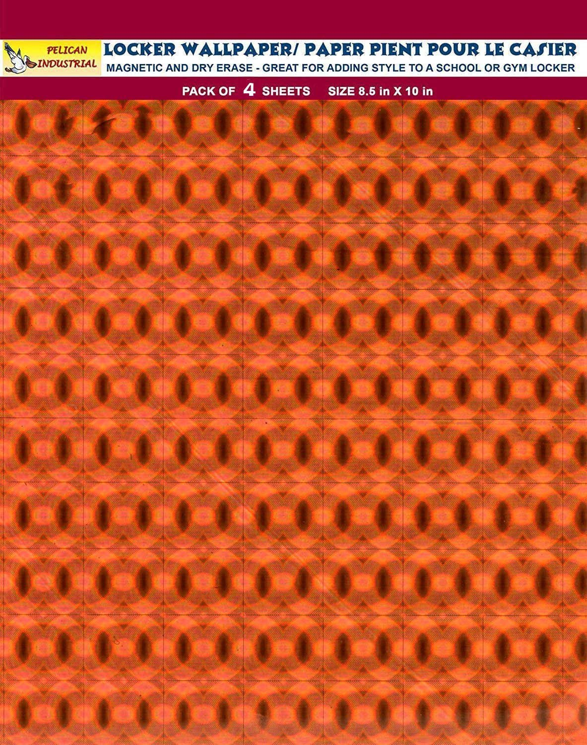 Magnetic Locker Wallpaper - Dry Erasable Holographic Designs - Pack of 4 Sheets - Peach
