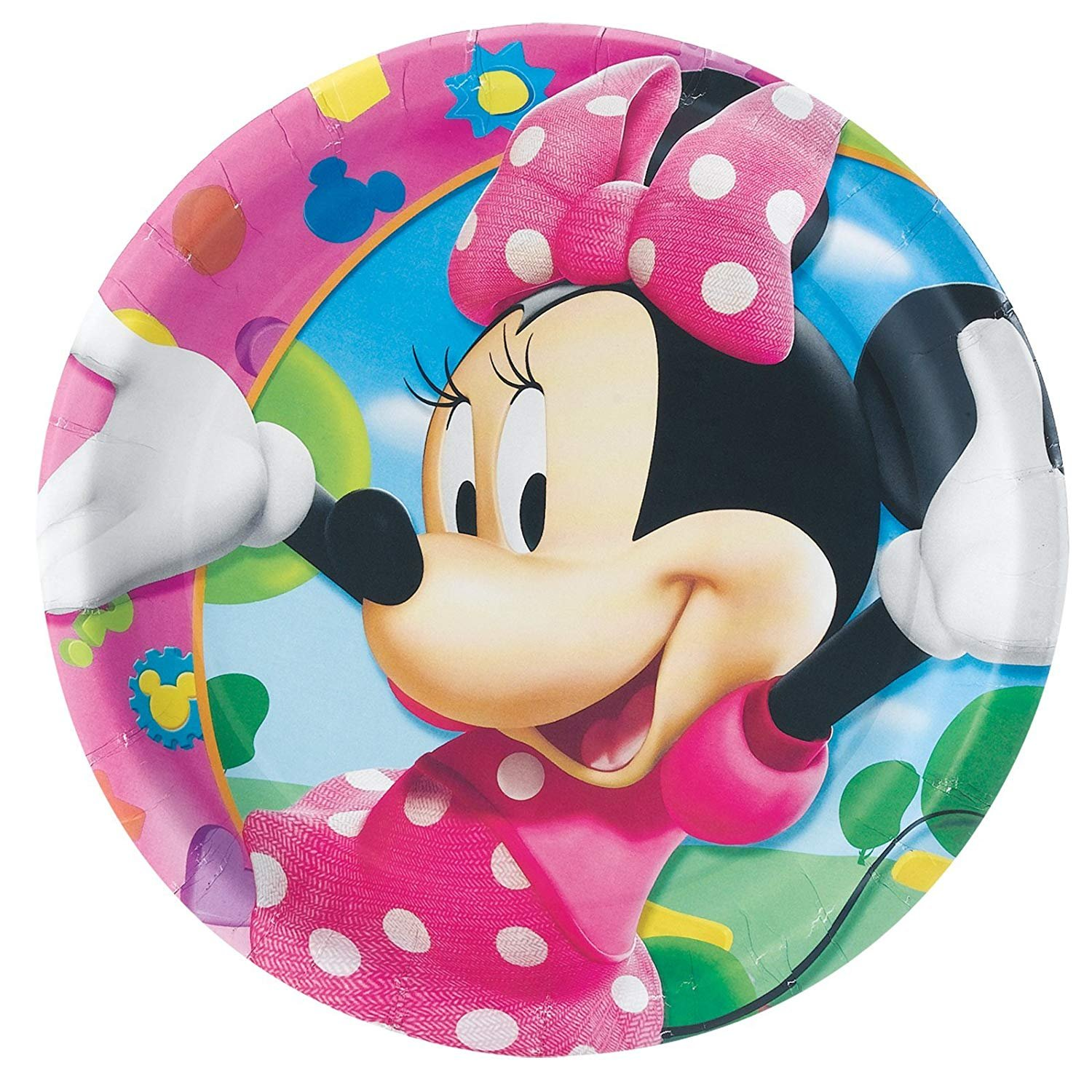 Minnie Mouse Dinner Plates (8 count) by Rubie's