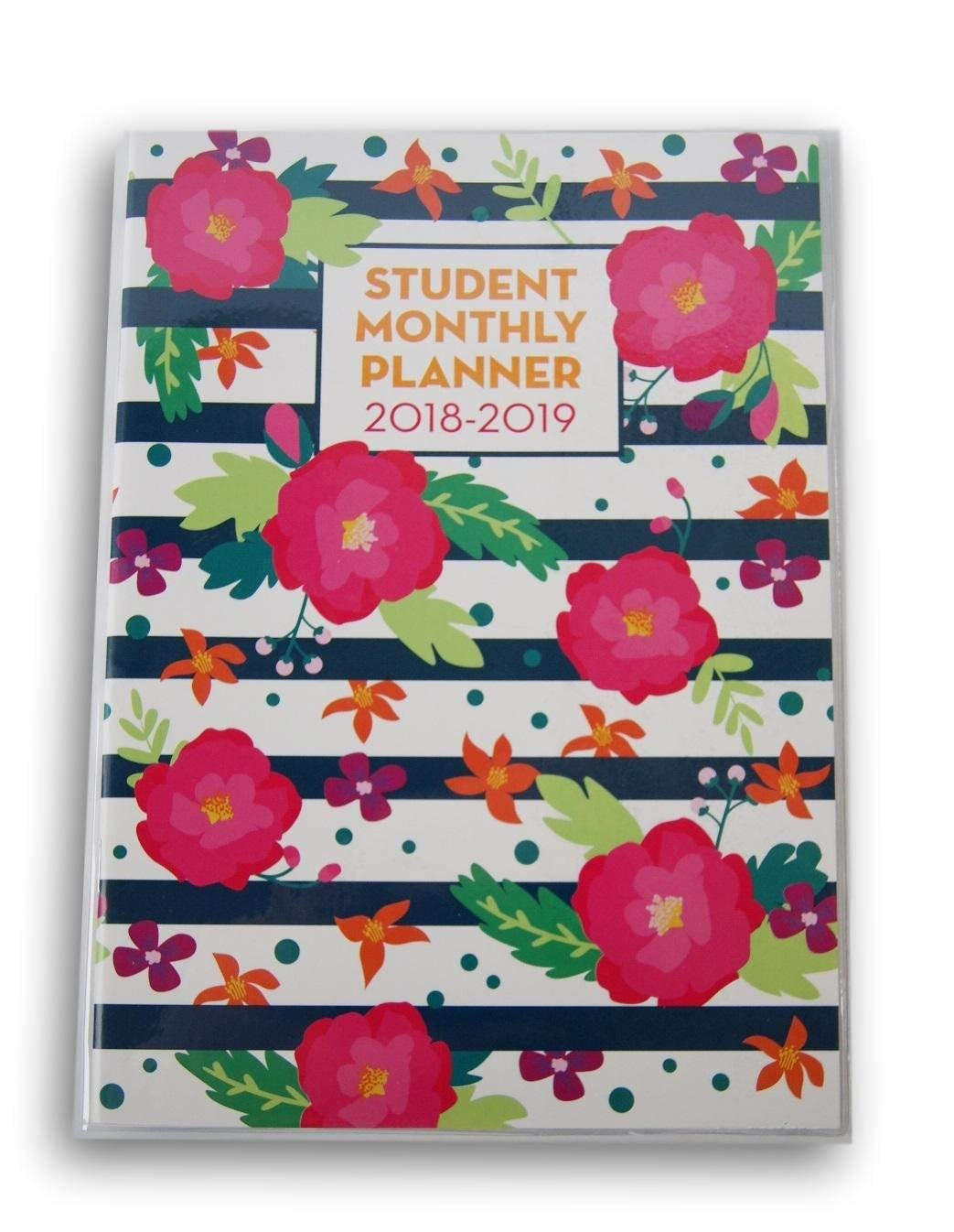 School Monthly Planner for 2018-2019 (Floral)
