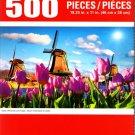 Cra-Z-Art Dutch Windmills and Tulips - 500 Piece Jigsaw Puzzle