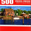 Cra-Z-Art Boats and Houses on Kennebunkport River Shore, MA - 500 Piece Jigsaw Puzzle