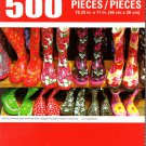 Cra-Z-Art Colorful Children's Boots at Market Stall - 500 Piece Jigsaw Puzzle