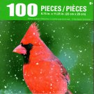 Cra-Z-Art Northern Cardinal in Falling Snow - 100 Piece Jigsaw Puzzle