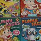 Beaver Books Funny Faces Coloring Sticker Book (Assorted, Styles & Quantities Vary)