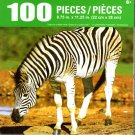 Zebra at a Water Hole - 100 Piece Jigsaw Puzzle