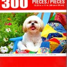Cra-Z-Art Cute Shih Tzu Puppy Sitting on a Colorful Quilt - 300 Piece Jigsaw Puzzle