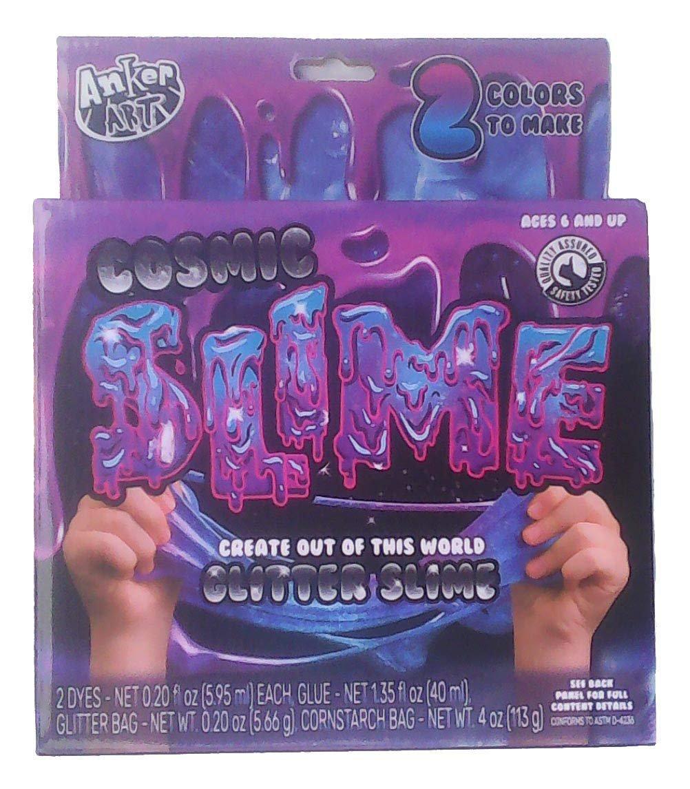 Anker Art Cosmic Glitter Slime - Makes Blue Purple Slime