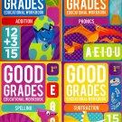 Good Grades First Grade Educational Workbooks - Set of 4 Books - v4