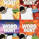 Large Print Word Hunt - All New Puzzles Books - 2018 Vol. 57 - 60 (4-Pack)