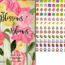 Blossoms & Blooms - 2019-2020 2 Year Pocket Planner/Calendar / Organizer - Monthly Page Format