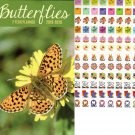 Butterflies - 2019-2020 2 Year Pocket Planner/Calendar / Organizer - Monthly Page Format