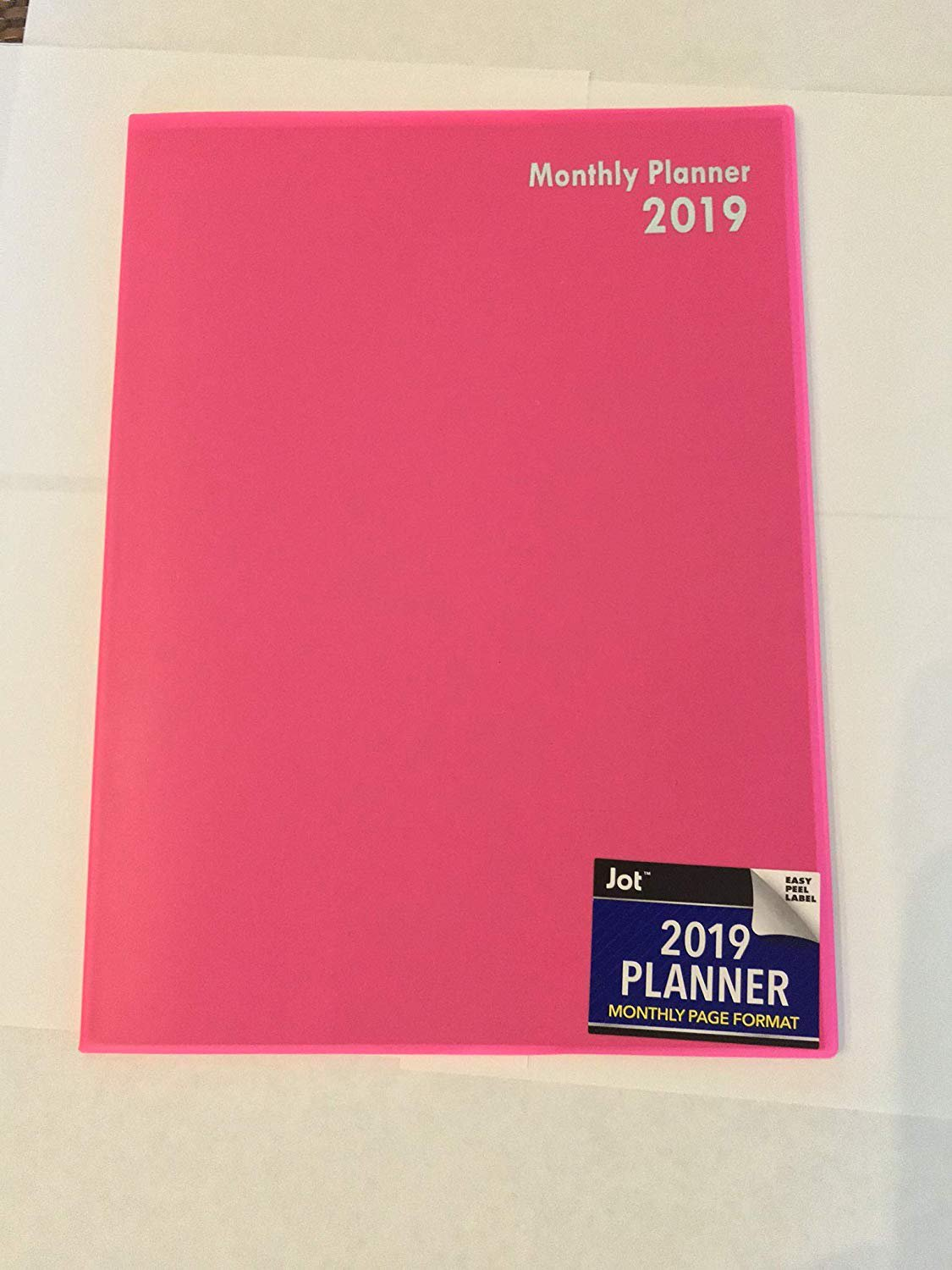 2019 Planner, Monthly Page Format (Pink)