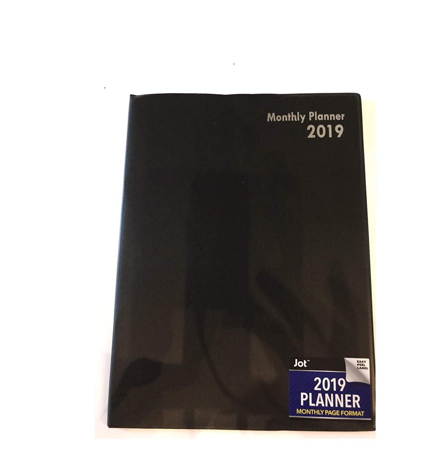 2019 Planner, Monthly Page Format (Black)