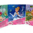 Three Disney Princesses 48 pc. Jigsaw Puzzles ~ Pack of 3