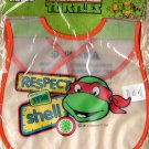 Teenage Mutant Ninja Turtles Baby Bib Respect The Shell 100% PEVA Velcro Closure Toddler Pack Of 2