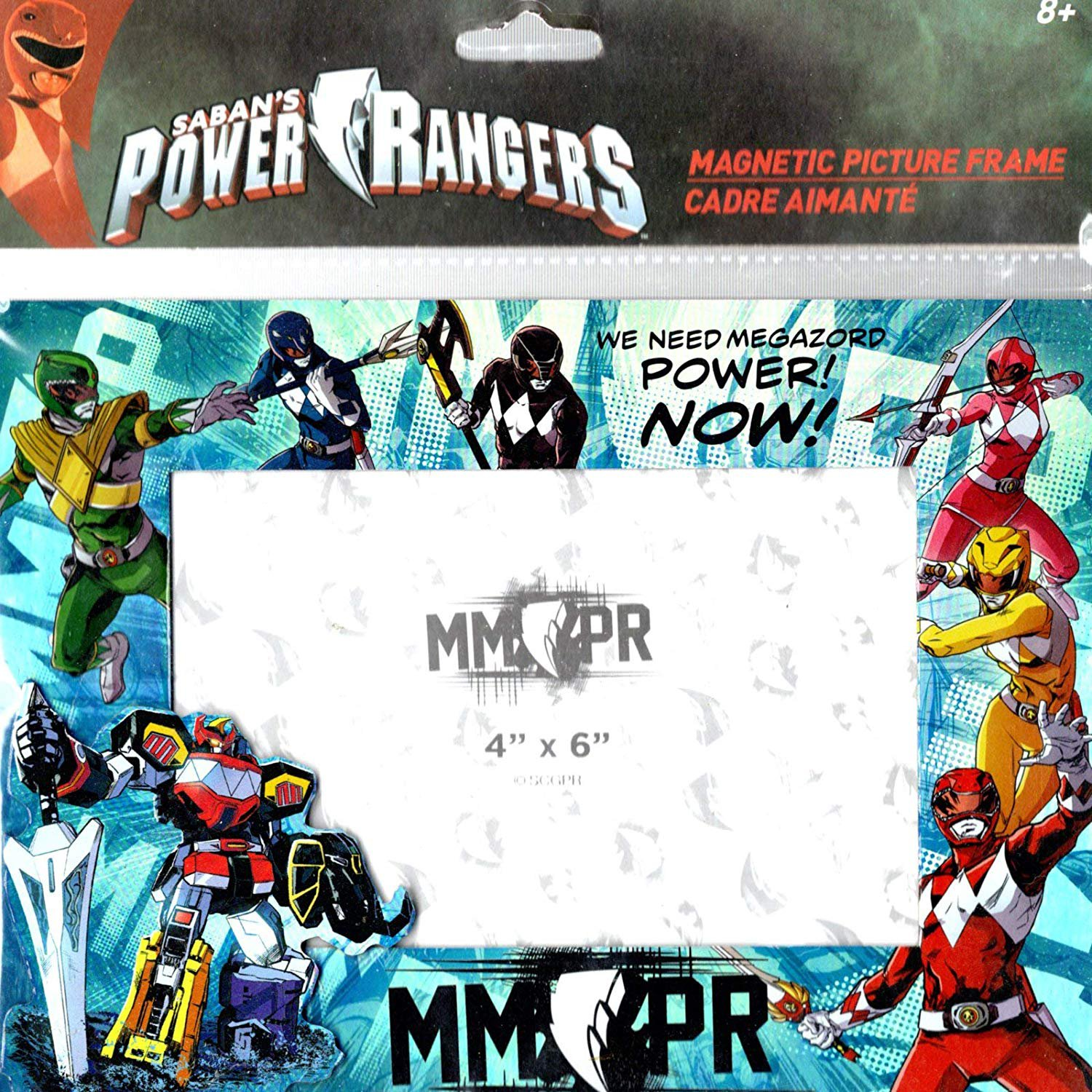 Power Rangers - Magnetic Picture Frame (4x6 in) Foil Print