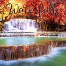 16 Month Wall Calendar 2019: Waterfalls - Each Month Displays Full-Color Photograph.