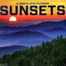 16 Month Wall Calendar 2019: Sunsets - Each Month Displays Full-Color Photograph.