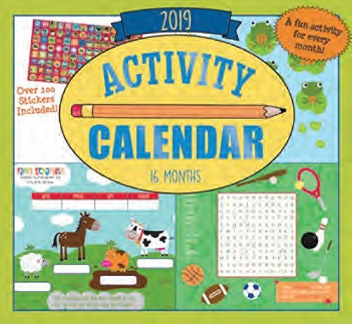 2019 Kid's Activity Wall Calendar - 16-Months (Activities)