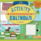2019 Kid's Activity Wall Calendar - 16-Months (Activities)