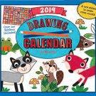 2019 Kid's Activity Wall Calendar - 16-Months (Drawing)