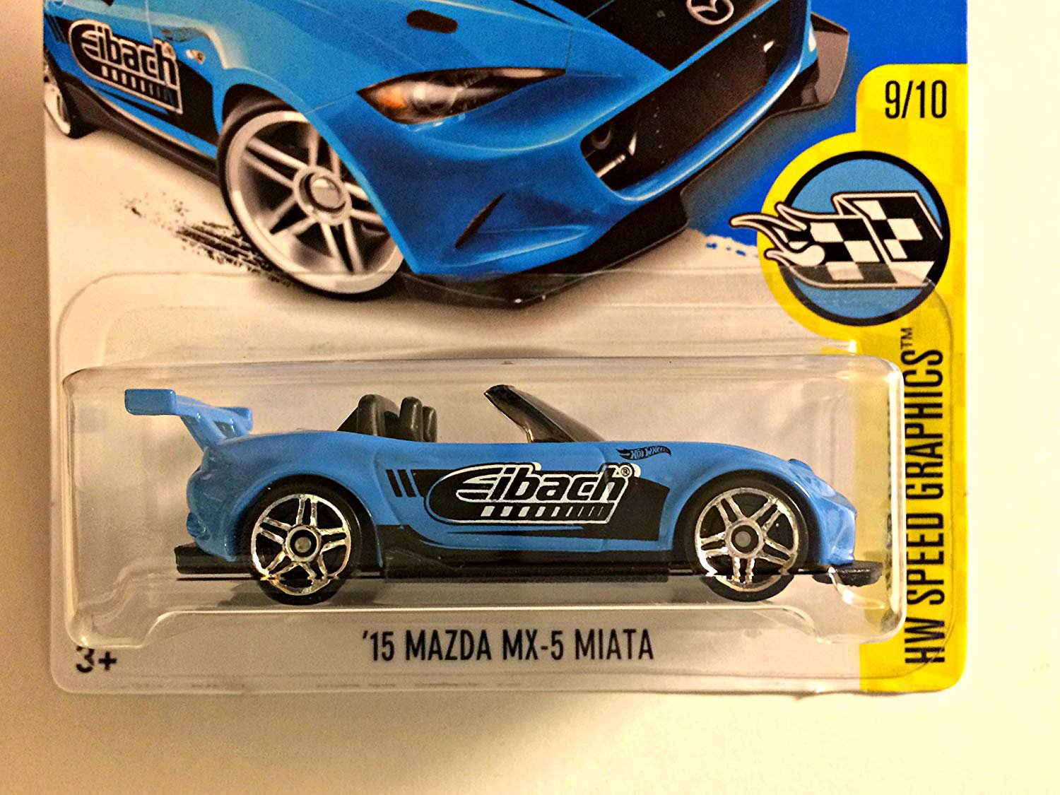 Hot Wheels 2017 HW Speed Graphics '15 Mazda MX-5 Miata 177/365, Light Blue