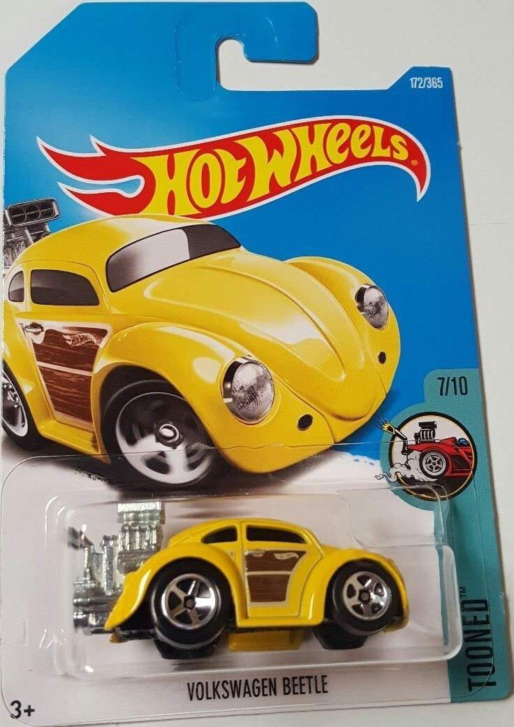 Hot Wheels 2017 Tooned Volkswagen Beetle 172/365, Yellow