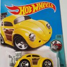 Hot Wheels 2017 Tooned Volkswagen Beetle 172/365, Yellow
