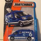Matchbox 2017 MBX Adventure City '14 Ford Transit News Van 9/125, Blue