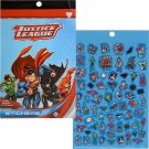 Justice League Sticker Book- 4 Pages Over 200 Stickers