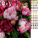 16 Month 2019 Wall Calendar - Flowers with 120 Reminder Stickers