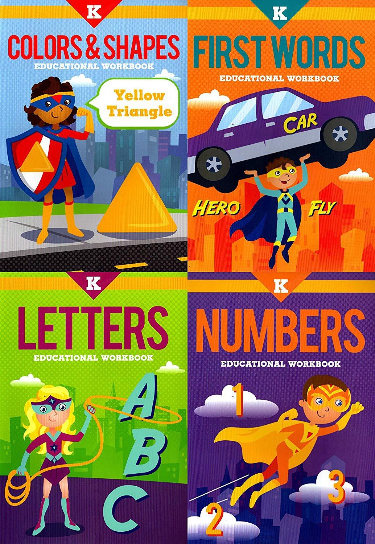 Kindergarten Educational Workbooks - Set of 4 Books - v3
