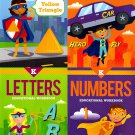 Kindergarten Educational Workbooks - Set of 4 Books - v3