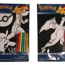 Pokemon Pop Velvet DIY Art Boards to Frame, with Colored Markers; Pikachu, Charizard; 2-pc