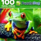 Red Eyed Tree Frog - PuzzleBug - 100 Piece Jigsaw Puzzle