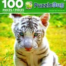 White Baby Tiger - PuzzleBug - 100 Piece Jigsaw Puzzle