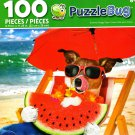 Summer Doggy Days - PuzzleBug - 100 Piece Jigsaw Puzzle