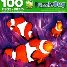 Cute Clownfish Hiding in The Anemone - PuzzleBug - 100 Piece Jigsaw Puzzle
